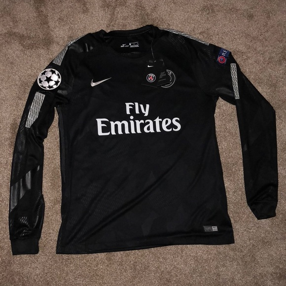 the latest 0faed 96c29 Nike Black PSG Soccer Jersey NWT